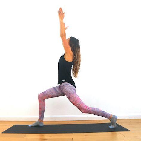 Yoga warrier pose copy