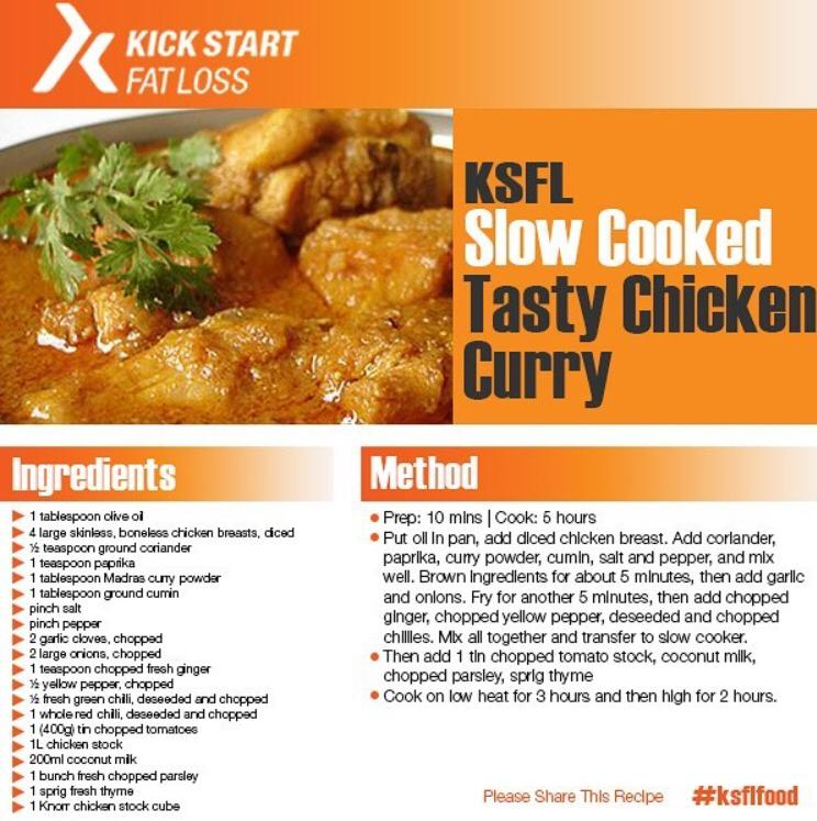 Elevate Programme Chicken Curry Recipe