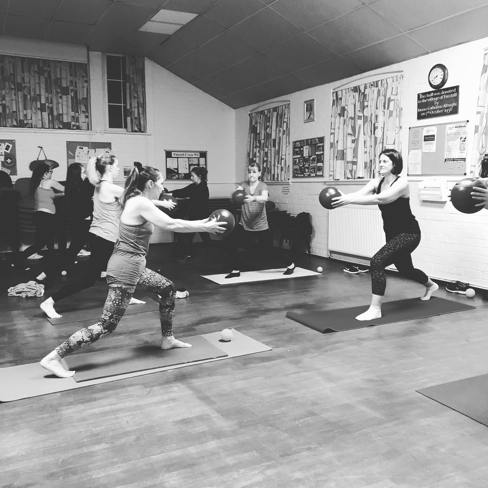 Pilates at FINSTALL VILLAGE HALL with Claire Cross Fitness and Wellness