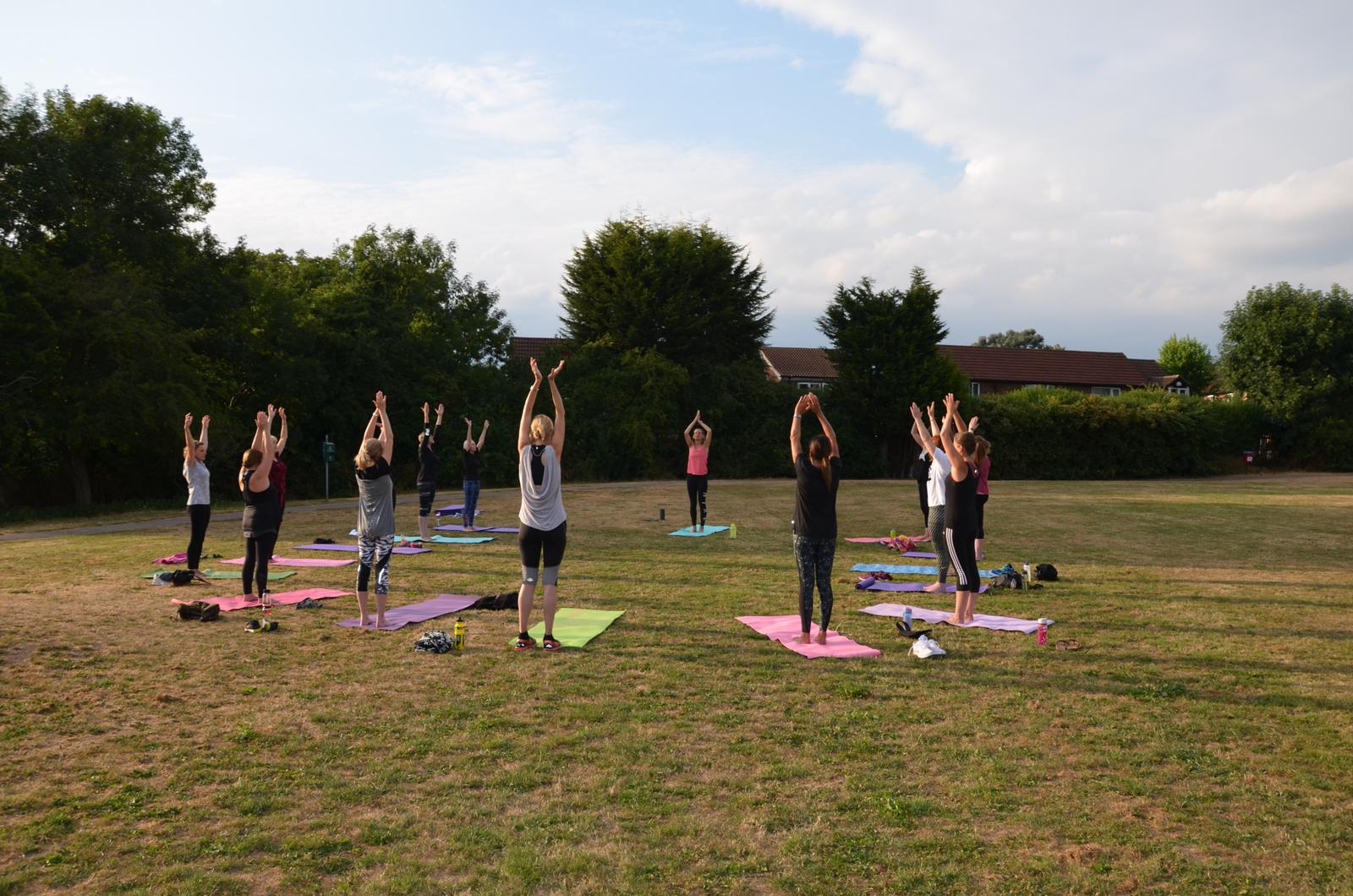 Outdoor Pilates at FINSTALL VILLAGE HALL with Claire Cross Fitness and Wellness